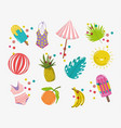 hello summer holiday things design vector image