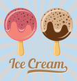 ice cream on stick vector image vector image