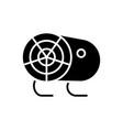 industrial fan heater icon vector image vector image