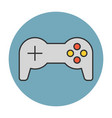 joystick flat line icon vector image vector image