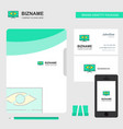 monitor business logo file cover visiting card vector image vector image