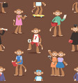 monkey like people cartoon characters animal ape vector image