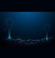 navigator pin checking map smart technology gps vector image vector image