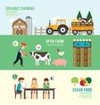 Organic Clean Foods Good Health design concept vector image vector image