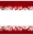 paper snowflake border on red vector image vector image