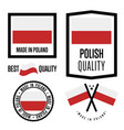 poland quality label set for goods vector image