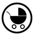 Pram button on white vector image