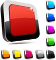 Rectangular 3d buttons vector image vector image