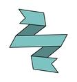 ribbon banner blue design icon vector image vector image