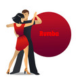 rumba dancing couple in cartoon style vector image vector image