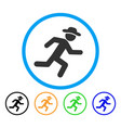 running gentleman rounded icon vector image vector image