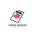 Screen printing logo design concept