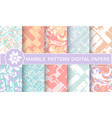 set marble purple patterns for design vector image vector image