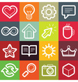 set of design elements and logo symbols vector image vector image