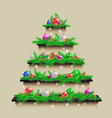 shelves christmas tree vector image vector image