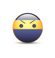 smiley ninja with an angry emoji face ninja vector image