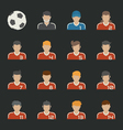 Sport football icons set vector image vector image