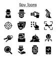 spy icon set graphic design vector image