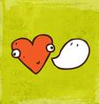 Talking Love Heart Cartoon vector image vector image