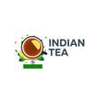 Tea time cup of tea with lemon indian tea