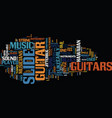 The origins and magic of slide guitar text vector image