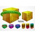 web boxes elements vector image