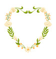 wedding frame for invitation or greeting card vector image vector image