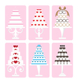 set of wedding cake vector image