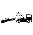 Broken down car with crane vector image
