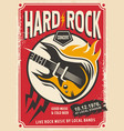 hard rock event poster template vector image