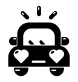 wedding car icon simple style vector image