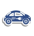 electric car icon image vector image