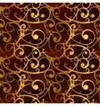 Golden baroque swirls on red luxury seamless vector image