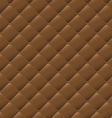 Seamless brown leather texture background vector image