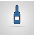 Bottle of wine icon with shadow vector image