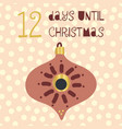 12 days until christmas vector image