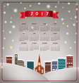 A 2017 quaint Christmas village calendar vector image vector image