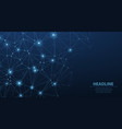 abstract poligonal dark blue background vector image