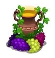 Ancient greek amphora with grape wine vector image vector image