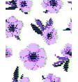 anemone flower seamless pattern vector image