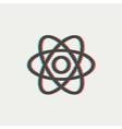 Atom thin line icon vector image vector image