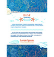 background of wild sea life vector image vector image