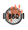 barbecue grill top view with fire vector image