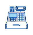 blue contour of cash register vector image vector image