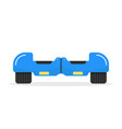 blue hoverboard with shadow vector image vector image