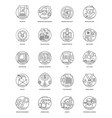 business line icons 6 vector image vector image