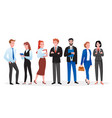 business people set happy professional corporate vector image vector image