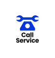 call service telephone phone customer care logo vector image