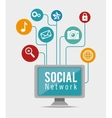 computer social network connection apps vector image