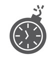 deadline glyph icon time and clock stopwatch vector image vector image